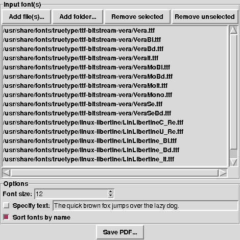 TTFSampler - Sample sheet generator for TrueType fonts